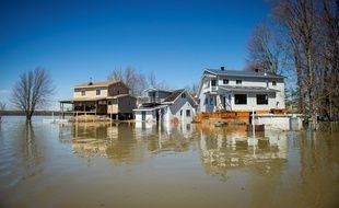 Inondations dans la banlieue de Montréal, le 22 avril 2019.