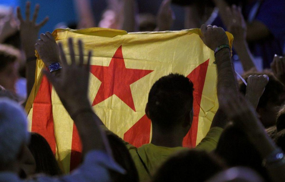 Drapeau pro-indépendance de la Catalogne.  – LLUIS GENE / AFP