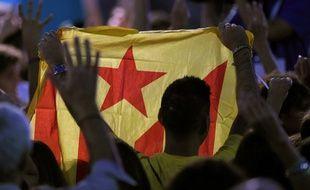 Drapeau pro-indépendance de la Catalogne.