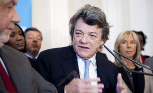Le 11 janvier 2012. Jean-Louis Borloo, president du Parti radical. presente ses voeux a la presse.