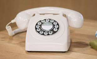 Illustration d'un téléphone fixe