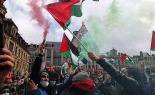 Manifestation de soutien au peuple palestinien, le 15 mai 2021 à Lille