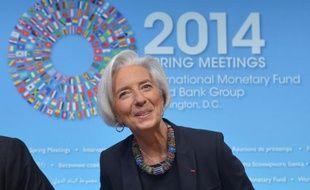La directrice générale du Fonds monétaire international Christine Lagarde, à Washington le 10 avril 2014