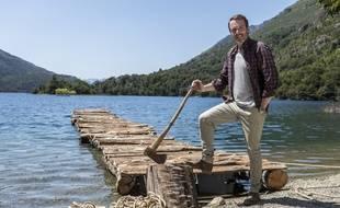 Stéphane Rotenberg sur le lieu de tournage de «The Bridge», en Patagonie (Argentine).