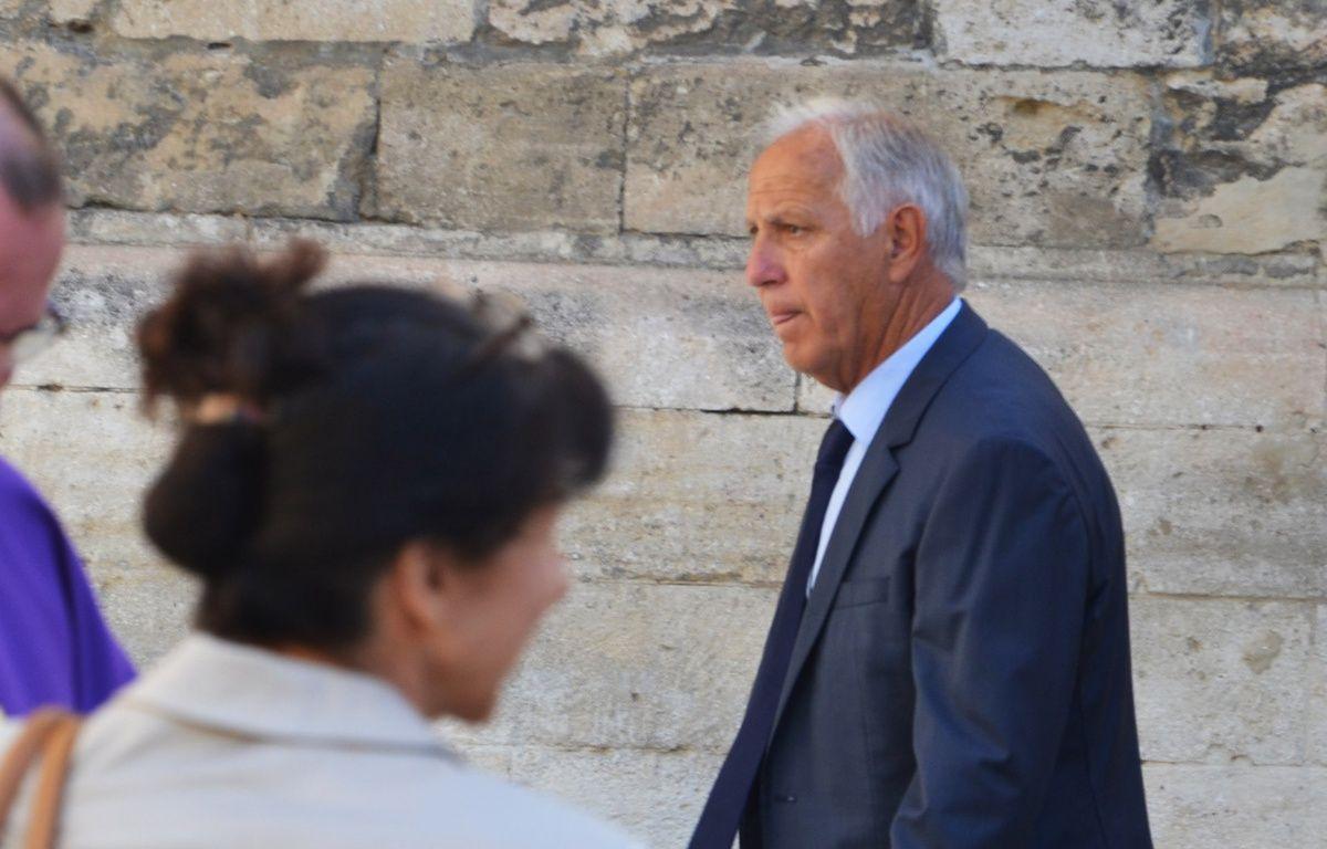 René Girard, aux obsèques de Louis Nicollin. – N. Bonzom / Maxele Presse
