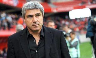 Daniel Sanchez, l'entraîneur du VAFC, le 27 août, à Valenciennes.