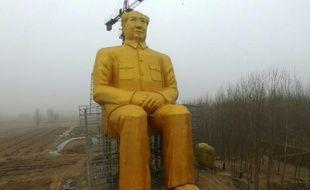 Statue géante de Mao Tsé-toung, photographiée le 4 janvier 2016 dans la région de Hunan, dans le centre de la Chine