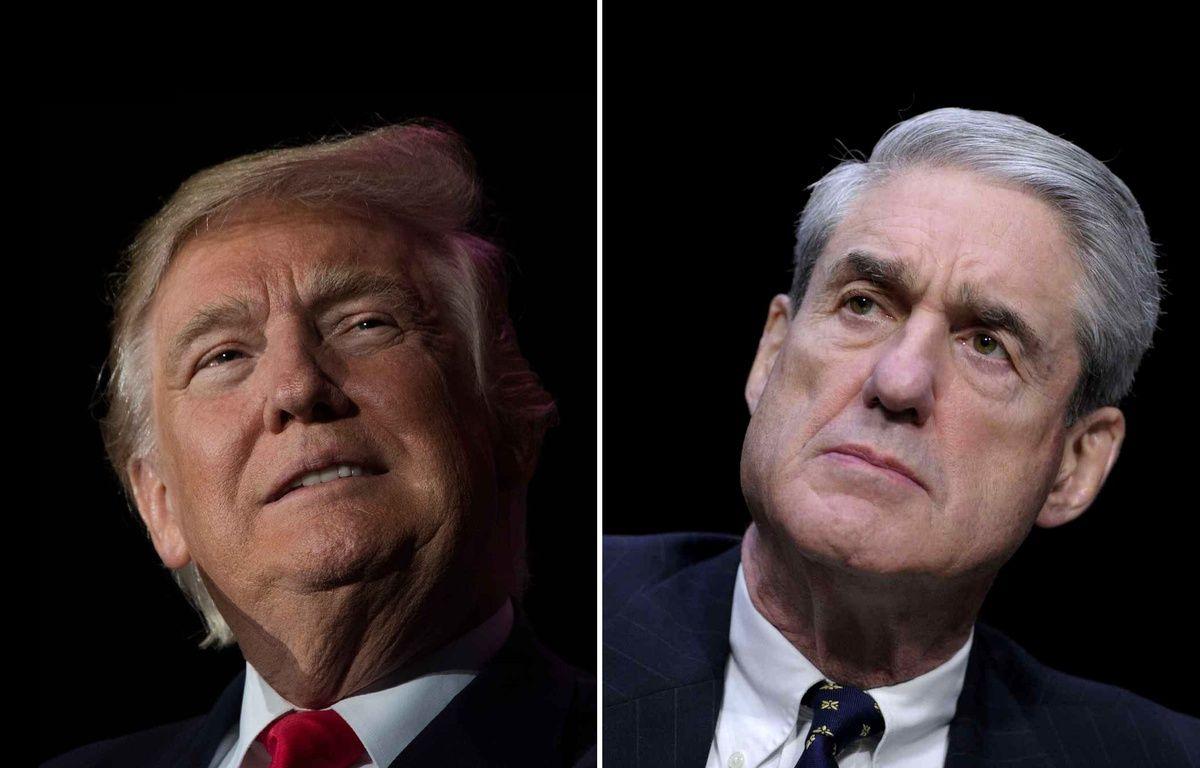 Photomontage du président américain, Donald Trump, face au procureur spécial chargé de l'enquête sur la Russie, Robert Mueller.  – PHOTOS SIPA / MONTAGE 20 MINUTES