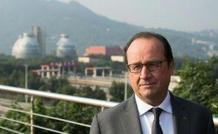 Le président français François Hollande à Chongqing, en Chine, le 2 novembre 2015