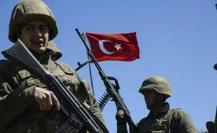 Des soldats turcs à Mardin en Turquie le 22 mars 2016