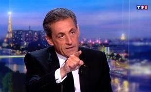 Nicolas Sarkozy au 20 Heures de TF1, le 22 mars 2018, au lendemain de sa mise en examen dans l'affaire du financement libyen de sa campagne présidentielle de 2007.