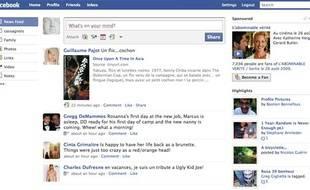 Une page du site Facebook