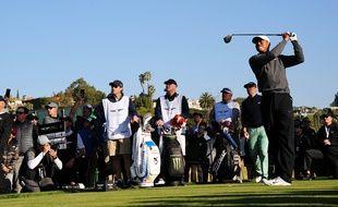 Tiger Woods lors d'un tournoi en Californie, le 14 février 2020.