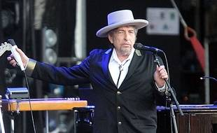 Bob Dylan, le 22 juillet 2012, au festival des Vieilles Charrues à Carhaix, en Bretagne.