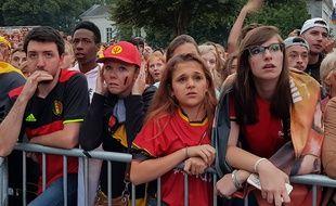 Dans la fan zone de Tournai, les Belges sont dépités.