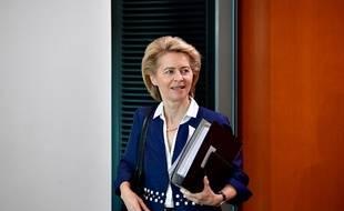Ursula von der Leyen, candidate officielle à la présidence de la commission européenne.