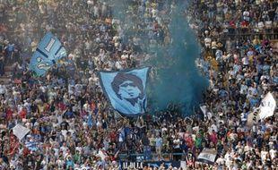 Un tribune du Stade San Paolo, à Naples
