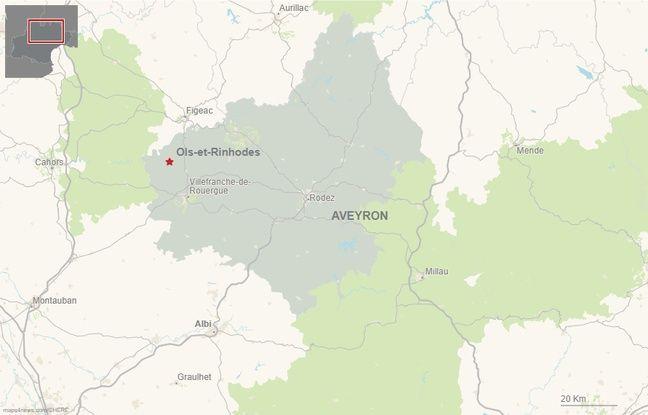 La commune de Ols-et-Rinhodes en Aveyron.