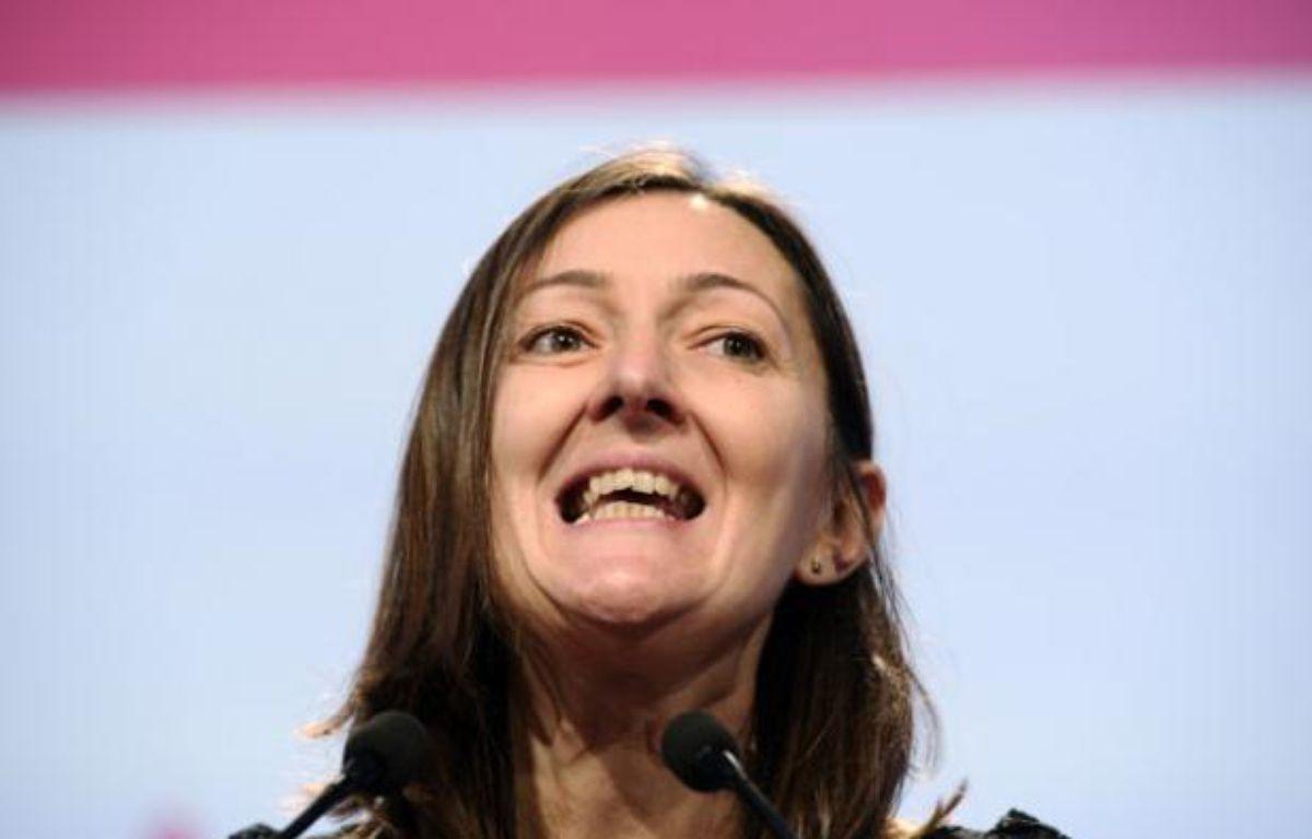 La députée Karine Berger, le 27 octobre 2012,à une convention du PS, à Paris. – L. BONAVENTURE / AFP