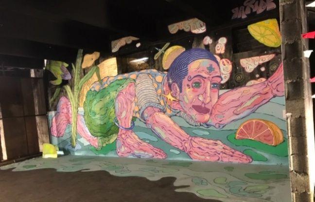 Une oeuvre exposée au festival international de street art, Peinture Fraiche