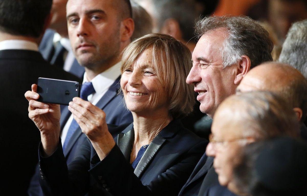 La vice présidente du MoDem, Marielle de Sarnez et François Bayrou, président du parti lors de la cérémonie d'investiture d'Emmanuel Macron dans la salle des fêtes de l'Elysée, à Paris le 14 mai 2017. – Francois Mori / POOL / AFP