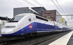 Un TGV de la SNCF à Perpignan en janvier 2011.