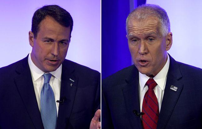 Candidats au Sénat américain Cal Cunningham (démocrate) et Thom Tillis (républicain).