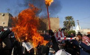 Manifestation à Bagdad, en Irak, contre les raids israéliens à Gaza le 28 décembre 2008