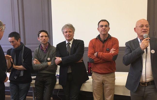 L'équipe de la candidature de Bordeaux à l'organisation de la RoboCup 2020.