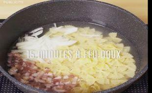 La recette du One pot pasta à la carbonara n'a guère plus de l'autre côté des Alpes.