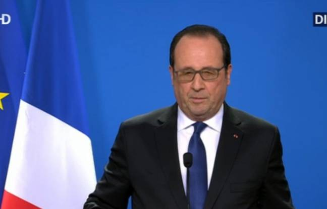 Hollande s'exprime alors qu'une opération est en cours à Molenbeek en lien avec les attentats de novembre.