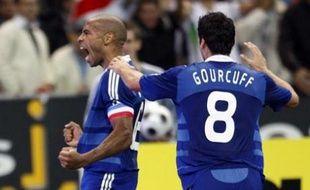 Thierry Henry et Yoann Gourcuff, le 14 octobre 2008 au Stade de France