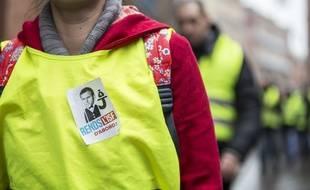 """(Photo d'illustration) L'action d'Emmanuel Macron est au centre des revendications des """"gilets jaunes""""."""