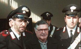 """""""Toto"""" Riina, le chef de la mafia sicilienne, le 16 janvier 1996."""
