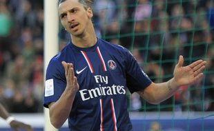 L'attaquant du PSG, Zlatan Ibrahimovic, lors d'un match de L1 contre Nancy, le 9 mars 2013.