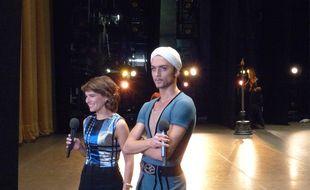 Katerina Novikova et le danseur Denis Rodkin sur la scène du théâtre du Bolchoï, le 26 octobre 2014.