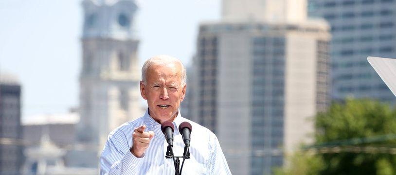 Joe Biden en meeting à Philadelphie, le 18 mai 2019.
