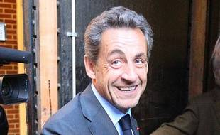 Nicolas Sarkozy à New York le 24 avril 2014.