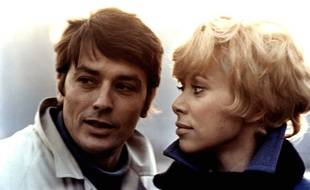 "Alain Delon and Mireille Darc in a scene of the film ""Jeff"" directed by Jean Herman.FRANCE-1969/Credit:NANA PRODUCTIONS/SIPA/1002241510"