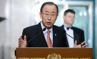 Ban Ki-moon, secrétaire général de l'ONU, le 29 février 2016 à Genève