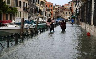 Venise au troisième jour des inondations, le 15 novembre 2019.