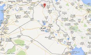 Google map de Qaraqosh, en Irak.