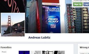 Profil Facebook d'Andreas Lubitz