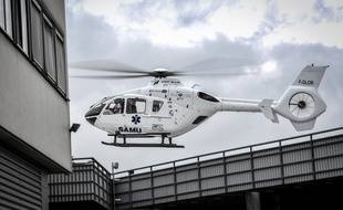 Un hélicoptère du Samu (illustration).