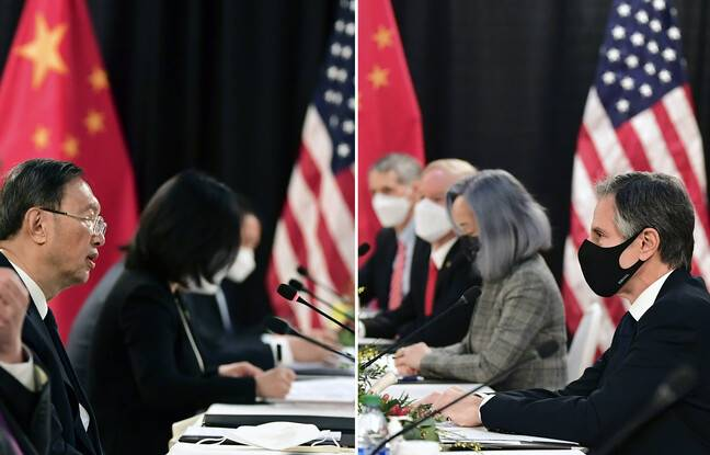 648x415 chef diplomatie chinoise yang jiechi face secretaire etat americain antony blinken lors discussions bilaterales anchorage alaska 18 mars 2021 photomon
