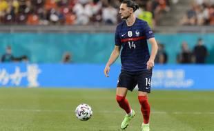 Adrien Rabiot lors de France-Suisse à l'Euro 2021 à Bucarest.