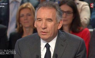 François Bayrou sur France 2, le 12 novembre 2015.