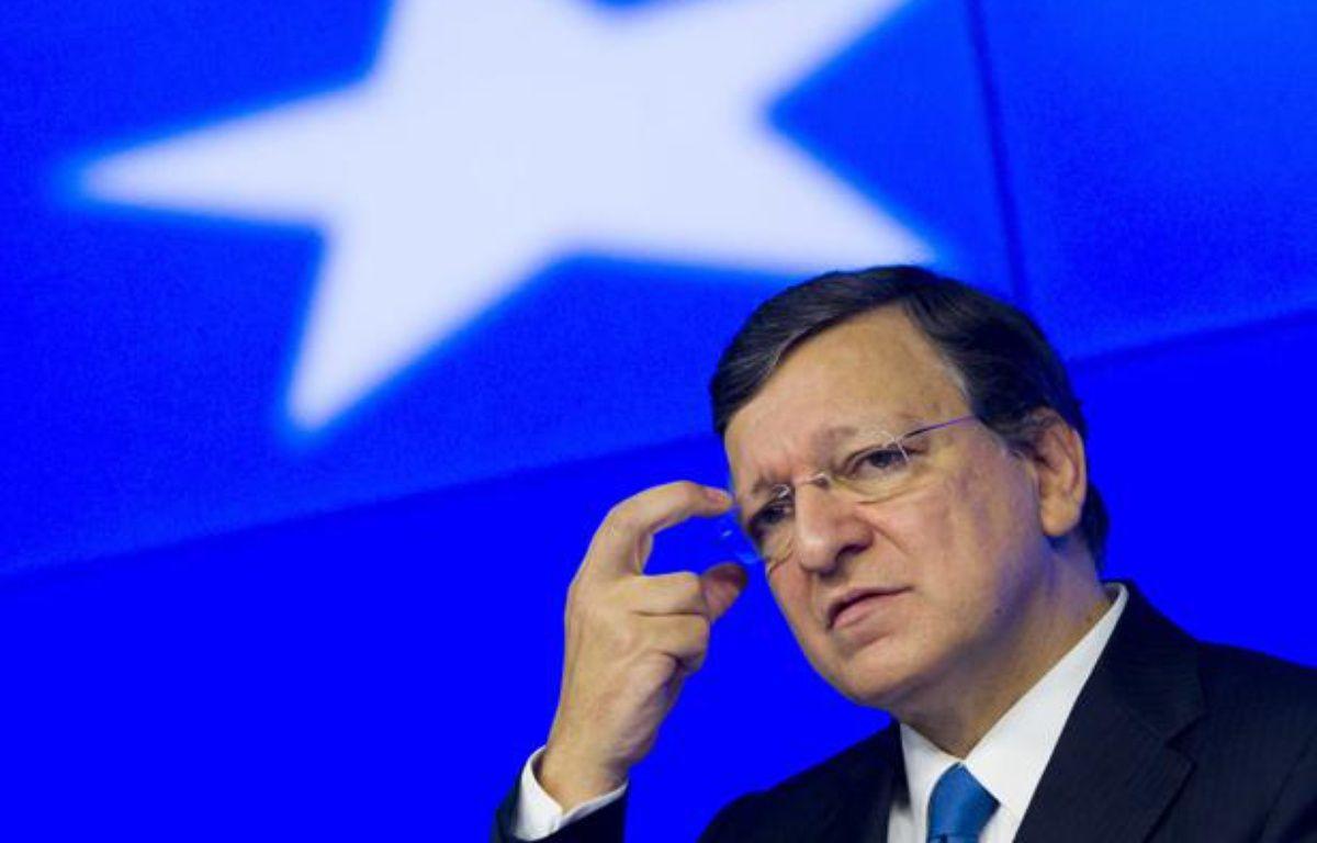 La zone euro, ici José Manuel Barroso, le président de la Commission européenne, aura fort à faire dans la gestion des cas espagnol et grec en 2013. – ZHOU LEI/CHINE NOUVELLE