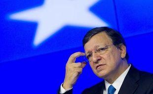 La zone euro, ici José Manuel Barroso, le président de la Commission européenne, aura fort à faire dans la gestion des cas espagnol et grec en 2013.