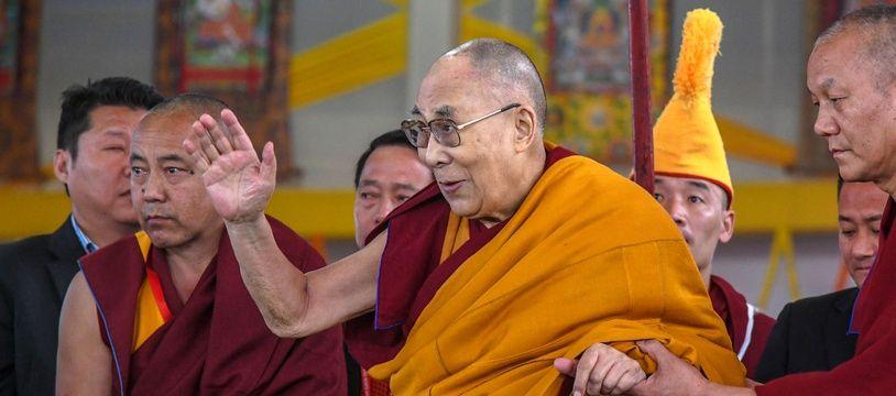 Le Dalaï Lama, le 31 décembre 2018 à Bodhgaya en Inde.